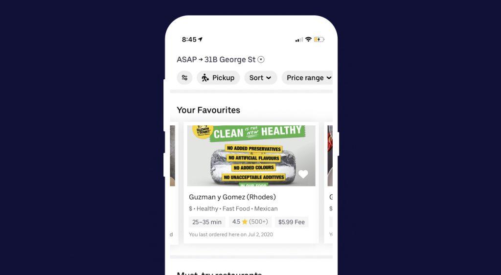 UberEats - Personalisation