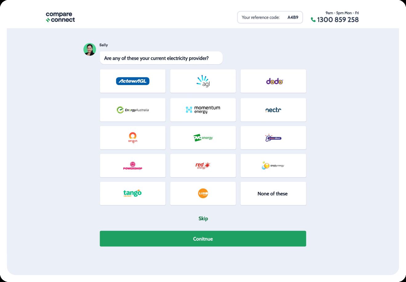 Compare & Connect UX/UI