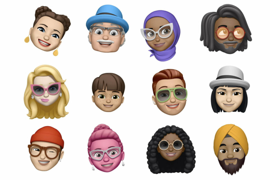 Image of Apple's custom avatars. Apple's incorporation of customisable avatars allows us to personalise our phones even further and make our digital devices uniquely ours