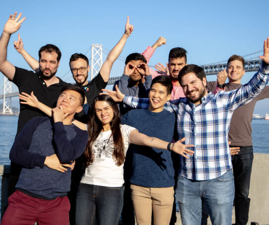 Philippe and the Snappr team celebrating a succesful workshop in San Fran
