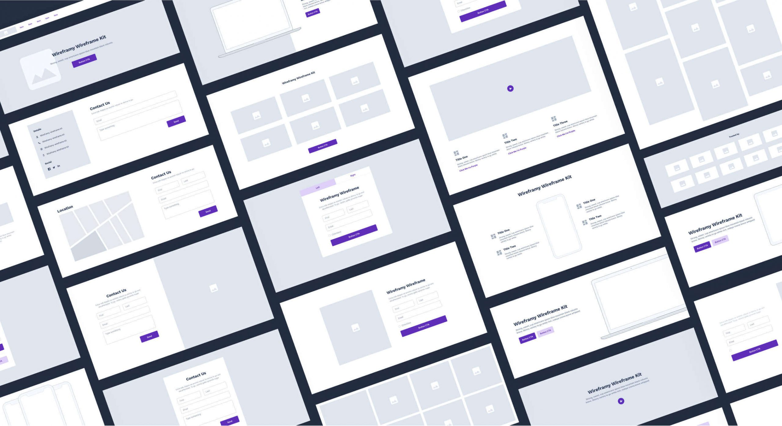 UX Design featured image wireframe